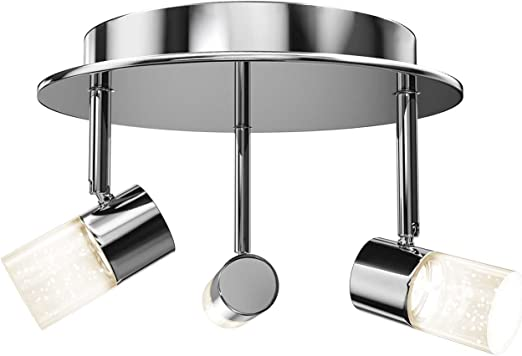 Artika Cl36w Hd1 Essence Flare Rd Multi Directional Flushmount Ceiling Light Fixture 3x6w With Integrated Led Chrome Plated Finish Amazon Com