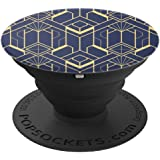 Abstract Retro Geometric Art Deco PopSockets Grip and Stand for Phones and Tablets