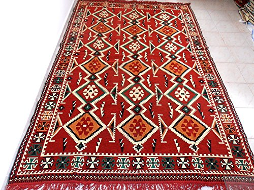 Kilim Rug,Turkish Kilim Rug,Traditional Rug,Kilim Fabric Rug - MA 35-36