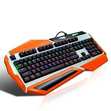 L&Y Teclados para Gamers Juego Teclado Mecánico Laptop RGB Teclado Retroiluminado USB2.0 Impermeable Teclado