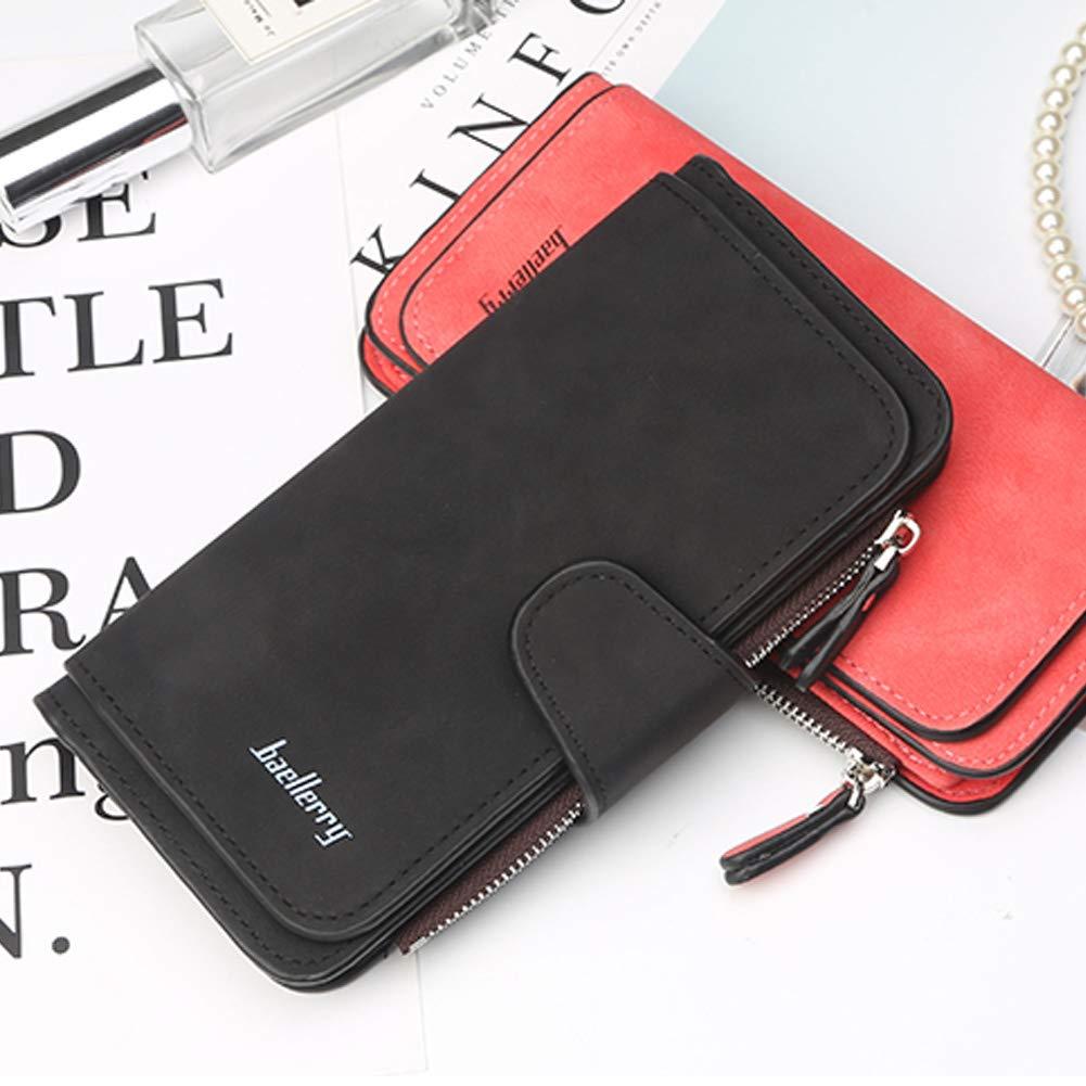 Wallet for Women RFID Blocking Clutch Purse Long Ladies Credit Card Holder Organizer(Black) …