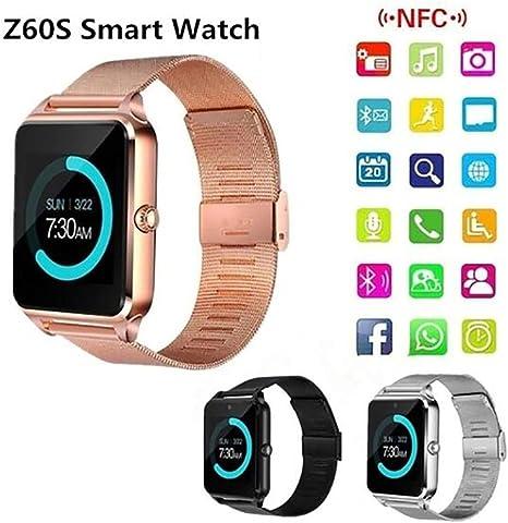 Amazon.com: Logistt Bluetooth Smart Watch,Unisex Stainless ...