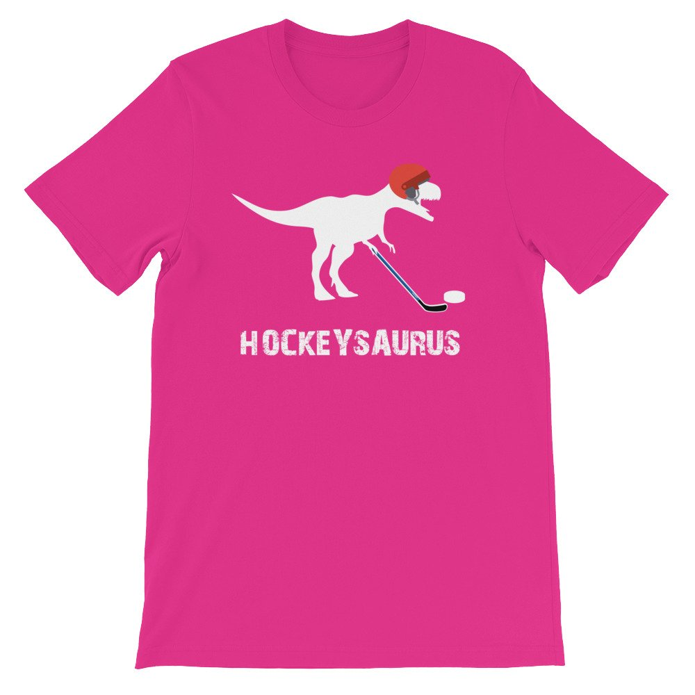 Hockey Dinosaur Love Hockey Premium Unisex T-Shirt edgyshop Hockeysaurus T Rex Hockey