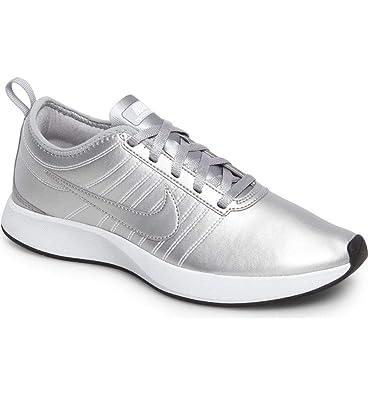 dd64dbae11 Amazon.com | Nike Womens Dualtone Racer PRM Low Top Lace Up, Metallic Silver,  Size 8.0 | Walking