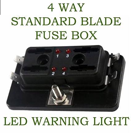 amazon com ronben 4 way blade fuse box 1 positive bus in led rh amazon com mci bus fuse box mci bus fuse box