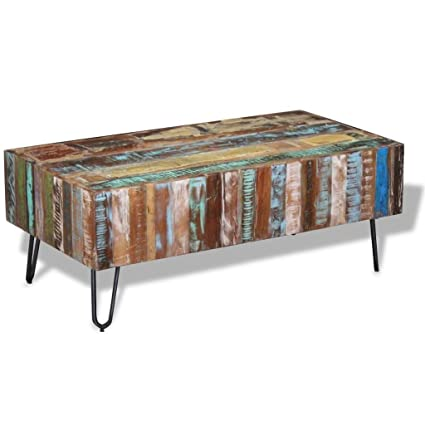 Amazon Com Fully Handmade Solid Reclaimed Wood Coffee Side Couch