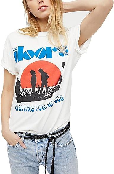 Camisetas Mujer Tumblr Harajuku Vintage Algodón Print Moda Camisas ...