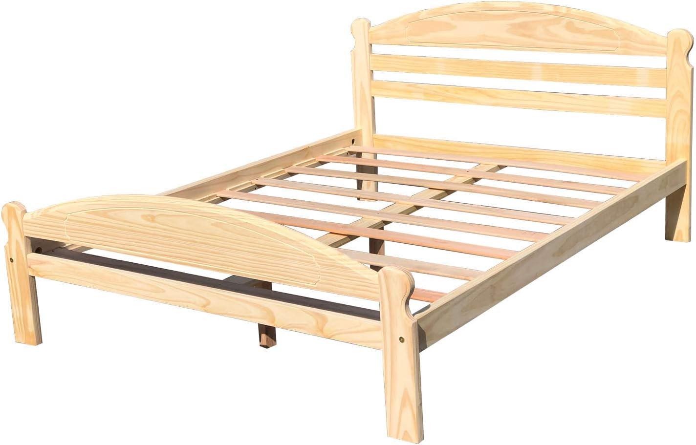 Arizona - Cama Full XL de madera de pino macizo, sin acabar ...