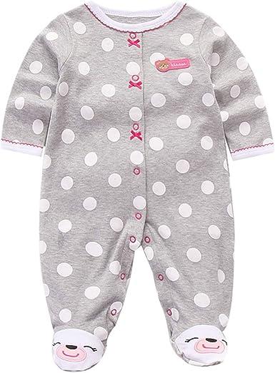 Recién Nacido Pijama Bebé Pelele Niñas Mameluco Algodón Caricatura ...
