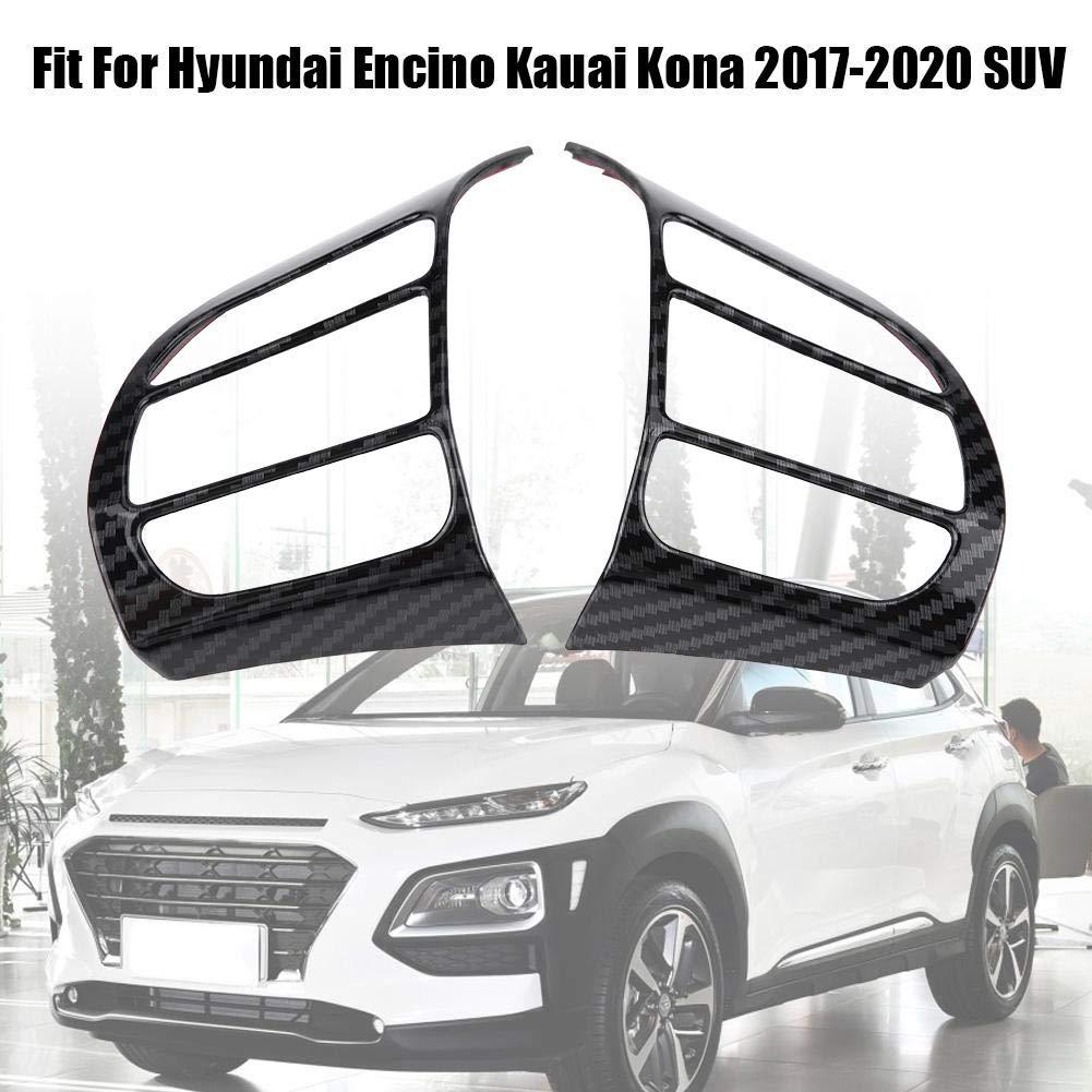 Garniture de volant de voiture cadre de couverture de volant de voiture garniture garniture de volant ins/érer autocollant pour Encino Kauai Kona 2017-2020 SUV argent