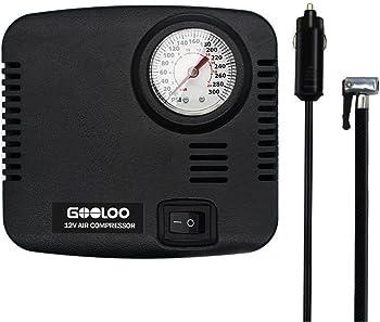 Gooloo DC 12V 300 PSI Portable Air Compressor Tire Inflator