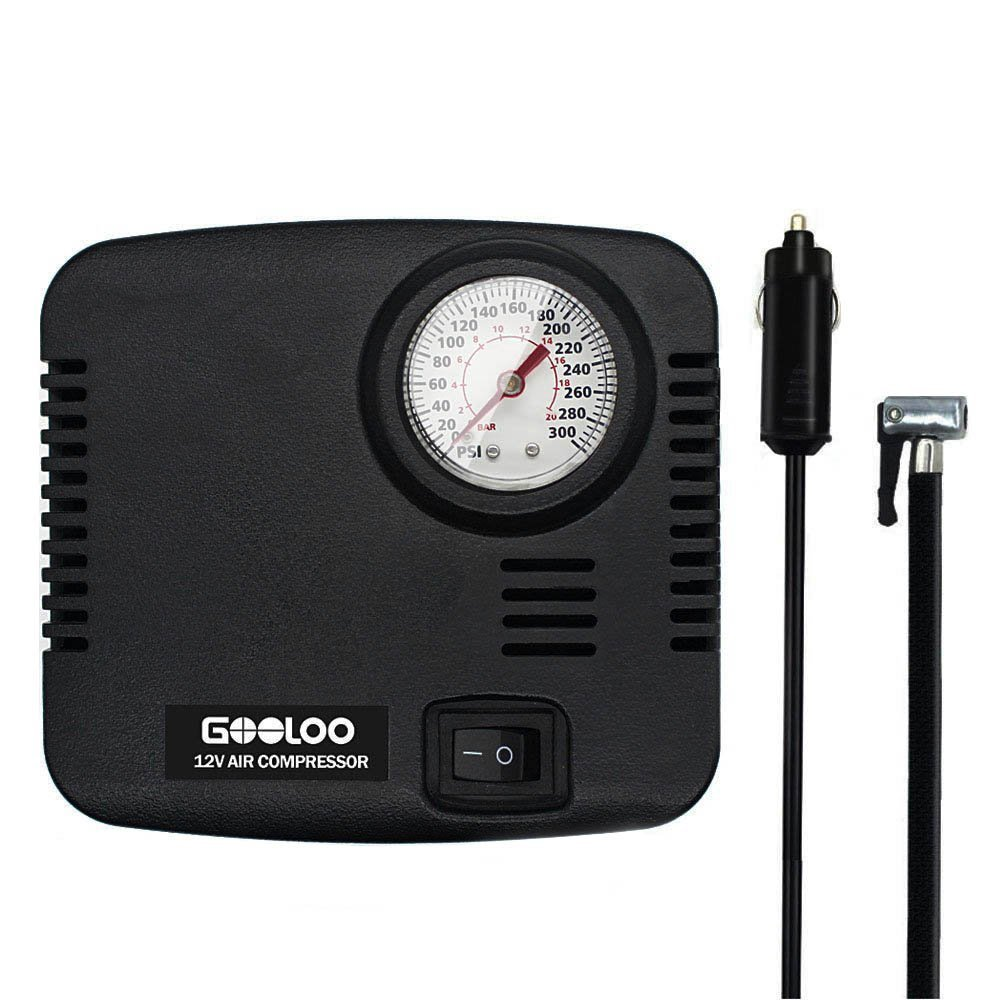 Amazon.com: GOOLOO DC 12V Portable Air Compressor - 300 PSI Tire Inflator Pump for Car, Bicycle, Motorcycles, Balls and Others: Automotive