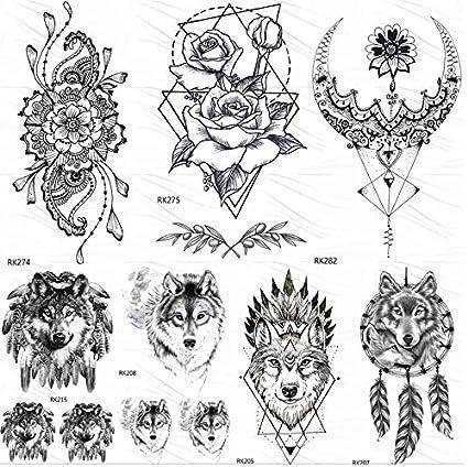 Tatuajes Temporales Adultos Brazo Geométrico Blacktotem Tatuajes ...