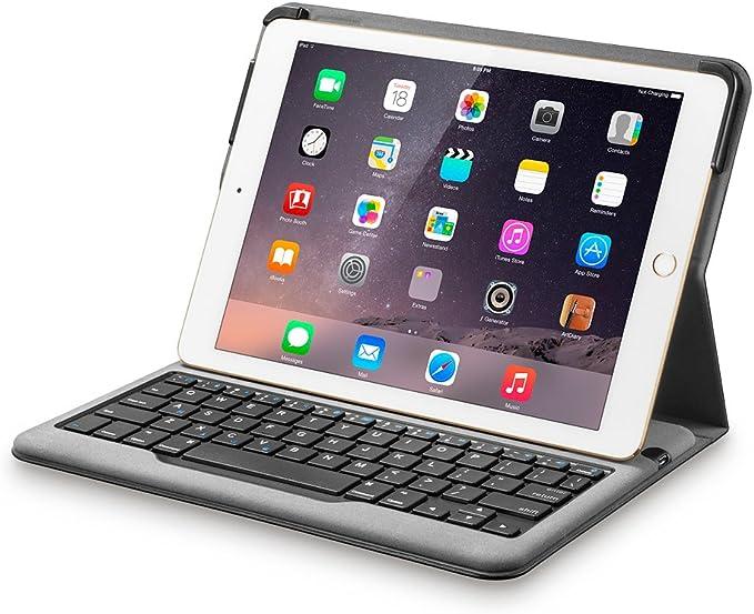 Anker Bluetooth Teclado Funda para iPad Air 2 – Smart Case con Apagado automático/Encendido, cómodo Llaves y 6 Meses de duración de la batería Entre ...