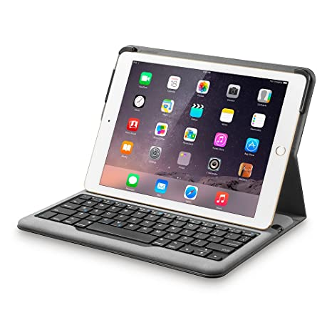 online retailer e1cd0 c6a40 Anker Bluetooth Folio Keyboard Case for iPad Air 2 [ONLY] - Smart Case with  Auto Sleep/Wake, Comfortable Keys and 6-Month Battery Life Between Charges  ...