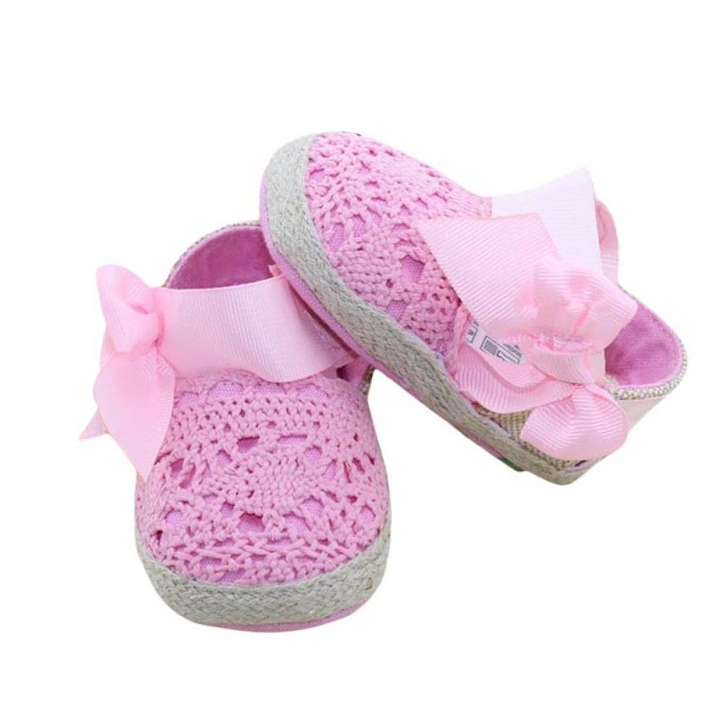0~6 Month, White Kolylong Baby Summer Infant Toddler Princess First Walkers Shoes Bow Shoes Sandals