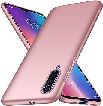 Funda para Xiaomi Mi 9 Lite/Mi CC9 Carcasas, Anti caída y Ultra-Delgado Ligera Totalmente Protectora Caso de PC Plástico Duro Absorción Choque Resistente Cover Compatible con Mi 9 Lite/Mi CC9 -Rosa: Amazon.es: