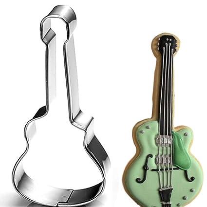 Molde en forma de guitarra eléctrica para repostería, galletas, pasteles