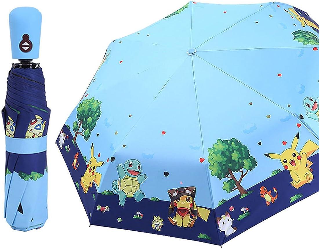 Travel Umbrella Girls Folding Umbrellas With Cute Halloween Pumpkin And Bat Printed