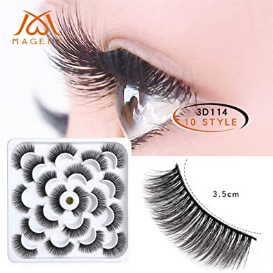 664a2d723bf 3D Mink Fur Fake Eyelashes Makeup Crisscross Deluxe False Lashes Black  Nature Long Curly Soft Reusable