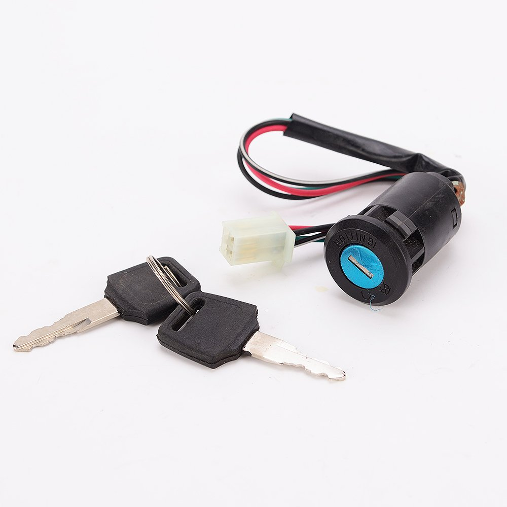 IZTOSS Motorcycle Ignition Switch Lock Key Suzuki ATV Dirt Bike 50cc 70cc 90cc 110cc 150cc 250cc for Kazuma Honda Tank