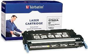 Verbatim Remanufactured Toner Cartridge Replacement for HP Q7582A (Yellow)