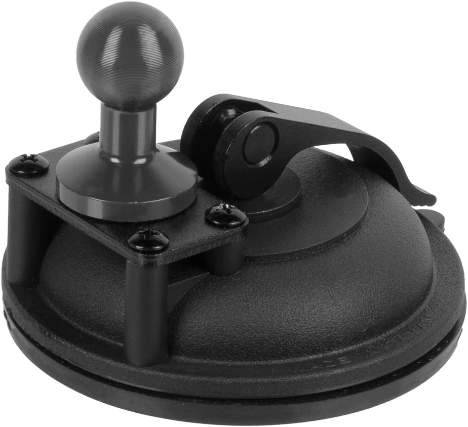 Large 3.5 Suction Cup Enduro Series Tackform Heavy Duty Suction Cup Mount with 20mm Ball Made of Aluminum and ABS Plastic
