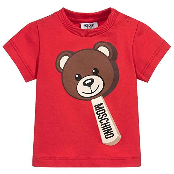 5f4fbca17289d8 Moschino T-Shirt Rossa Con Orsacchiotto: Amazon.co.uk: Clothing