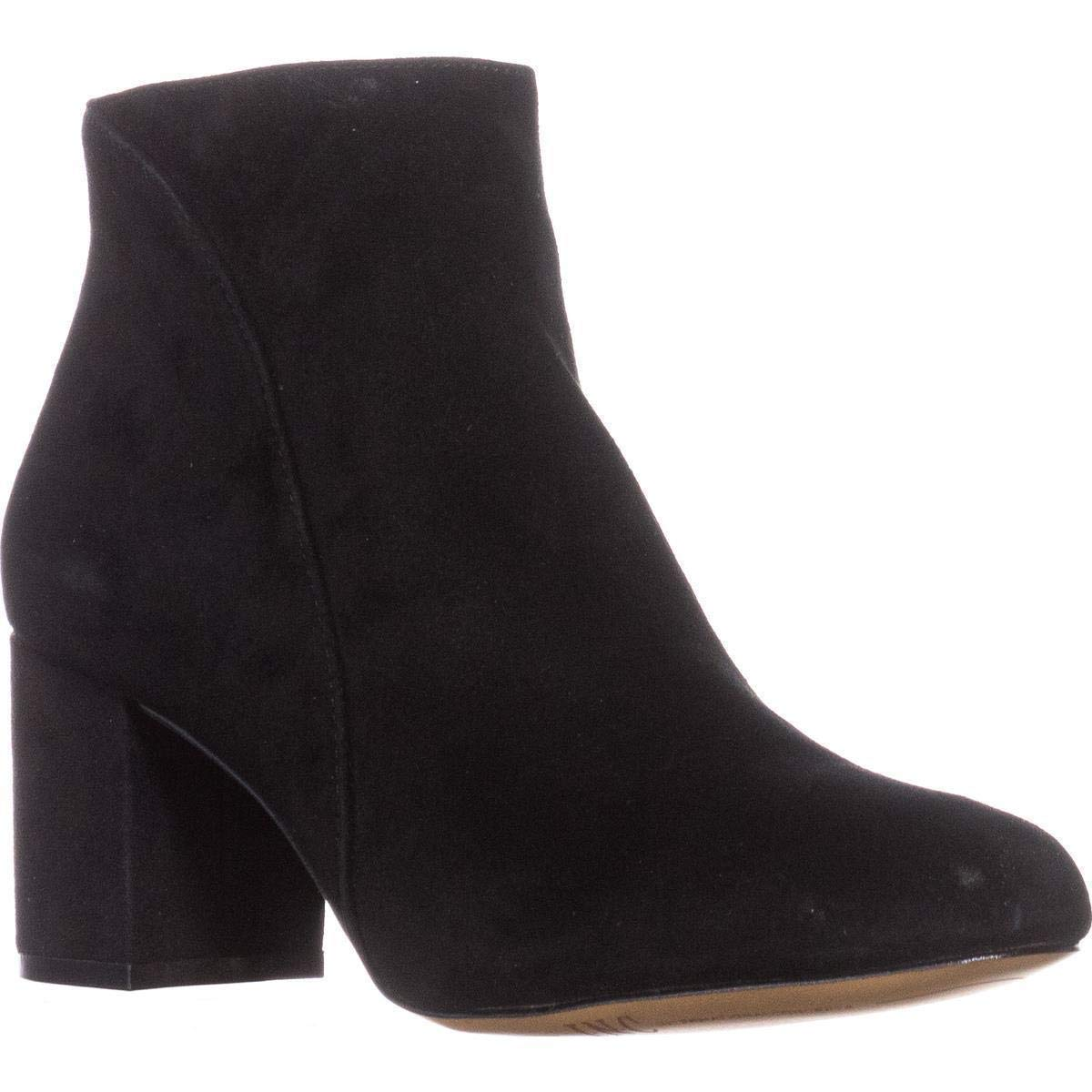 Black Suede INC International Concepts Womens Floriann Leather Almond Toe Ankle Fashion B.