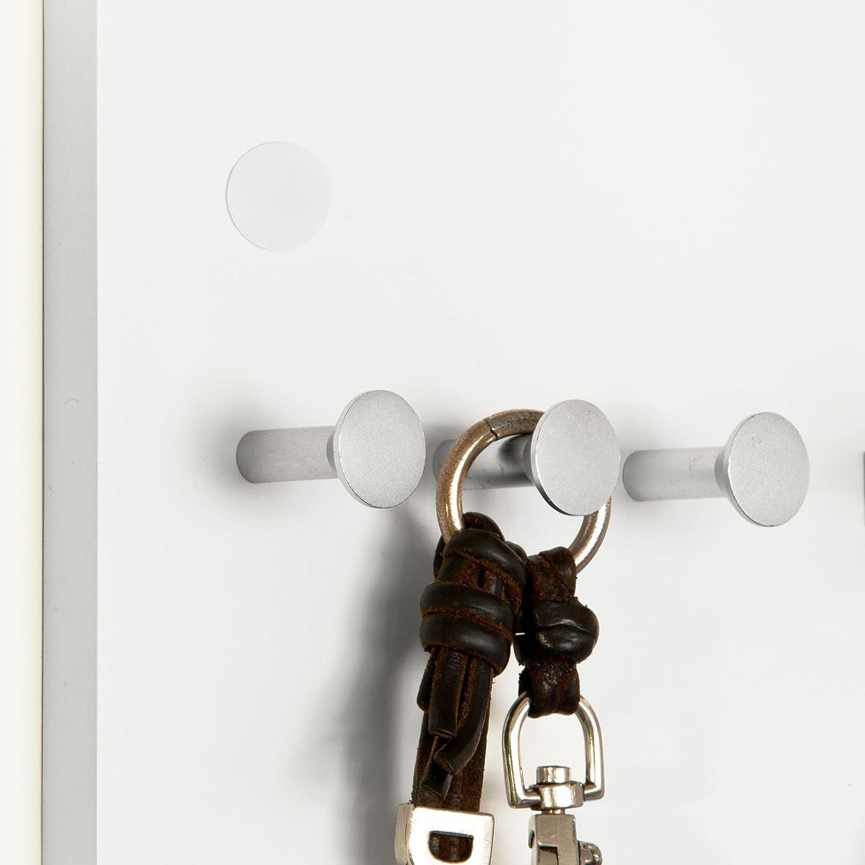 Appendiabiti SoBuy/® Portachiavi da Parete Mensola da Muro Appendichiavi IT Bianco,FRG54-W