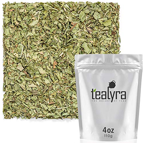 Tealyra - Pure Lemon Verbena - Herbal Loose Leaf Tea - Hot or Iced - Relaxation - Calming - Digestive - Caffeine Free - All Natural - 112g (4-ounce) (Lemon Loose Leaf Tea)