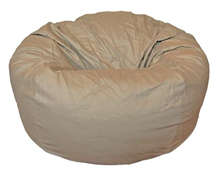 Ahh Products Cotton Washable Bean Bag, Tan, Large
