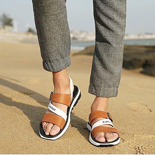 HUO Hausschuhe Mode Mischfarben Strand Schuhe Sommer Casual Hausschuhe Persönlichkeit Dual-use Sandalen Männer Koreanische Hausschuhe Kühle atmungsaktiv ( Farbe : 4 , größe : EU40/UK7/CN41 ) D