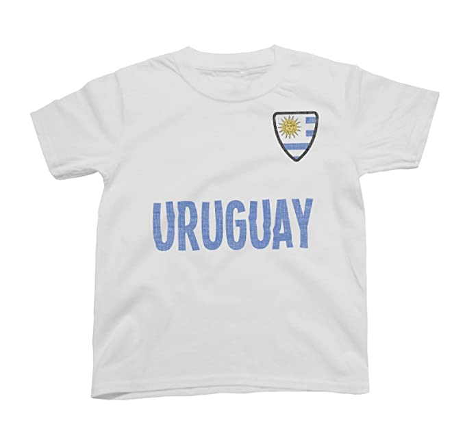 Niños O Niñas Uruguay Country Name and Badge Camiseta Fútbol Copa Mundial 2018 Kids Sports: Amazon.es: Ropa y accesorios
