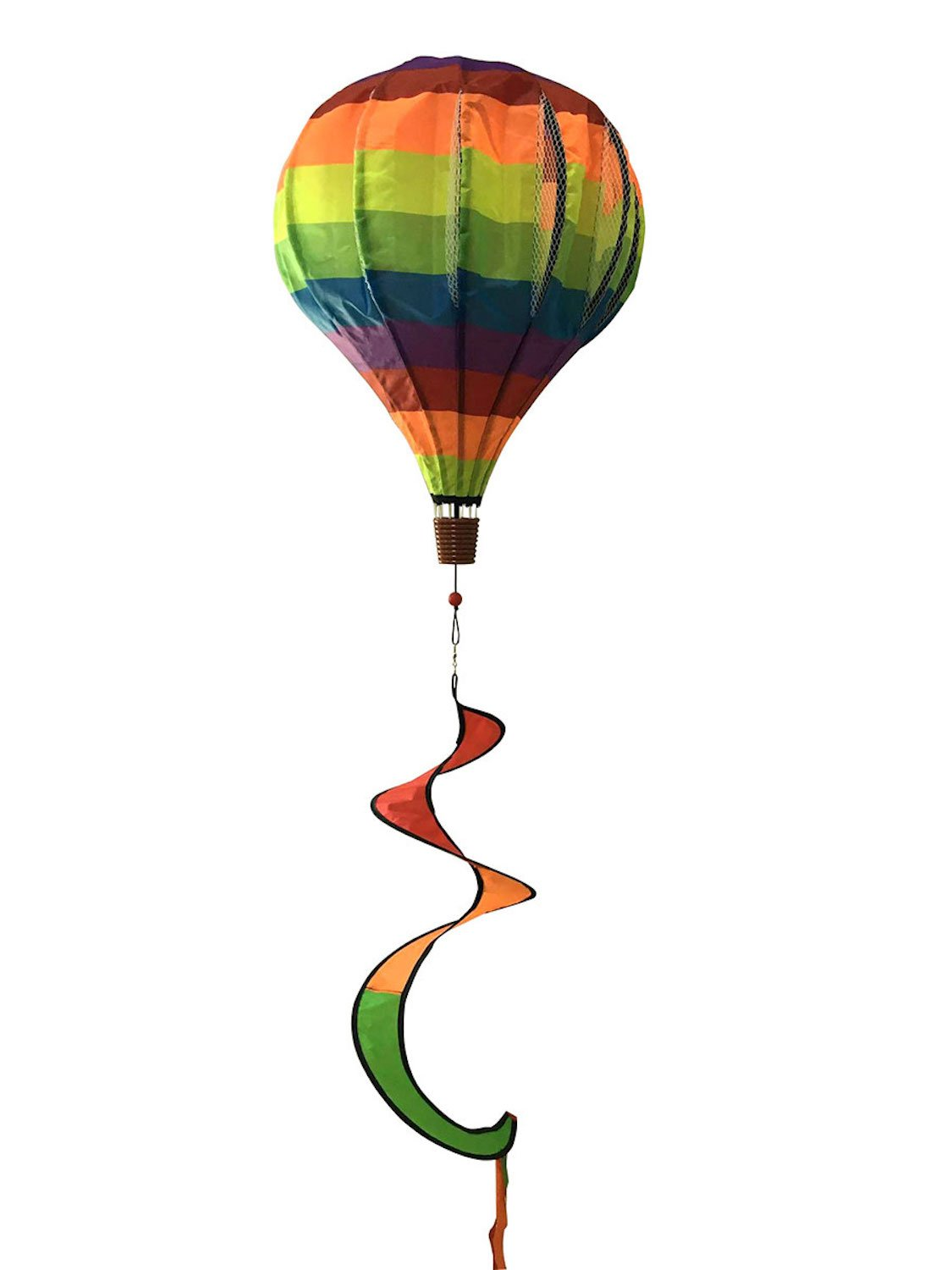 "Rainbow Deluxe Hot Air Balloon Wind Twister Everyday 54""L Briarwood Lane"