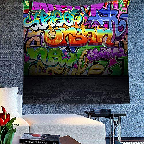 """YGUII Graffiti Decir Tapestry East Urban Home Abstract Street Graffiti Wall Urban Art Tapestry for Bedroom Living Room Dorm Wall Hanging Tapestry 150180cm(60"""" 71"""") DBLS392 from YGUII"""