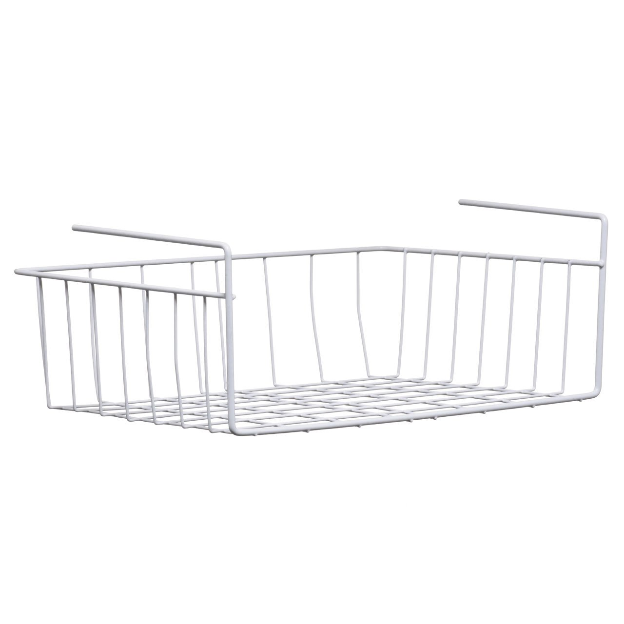 2 x LARGE KITCHEN UNDER SHELF STORAGE RACK HOLDER 39 CM BASKETS UNDER SHELF BASKET