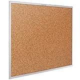 Quartet Cork Bulletin Board, Aluminum Frame, 5 X 3 Feet (2305)
