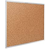 Quartet Cork Bulletin Board, 24 x 18 Inches, Corkboard, Aluminum Frame (2301)