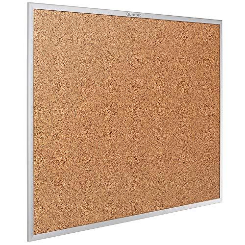 Quartet Cork Board, Bulletin Board, 5 x 3 feet, Corkboard, Aluminum Frame (2305)