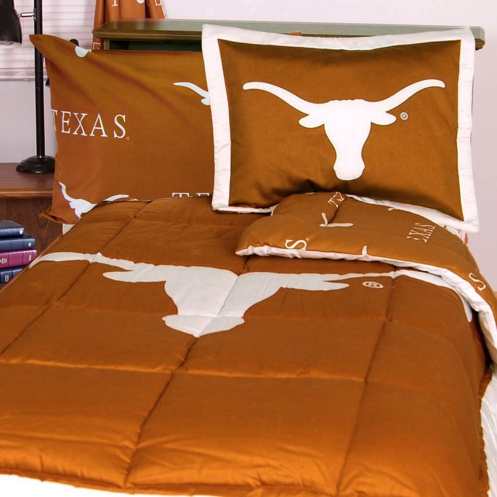 NCAA Texas Longhorns Collegiate 7pc Orange Queen Bedding Set