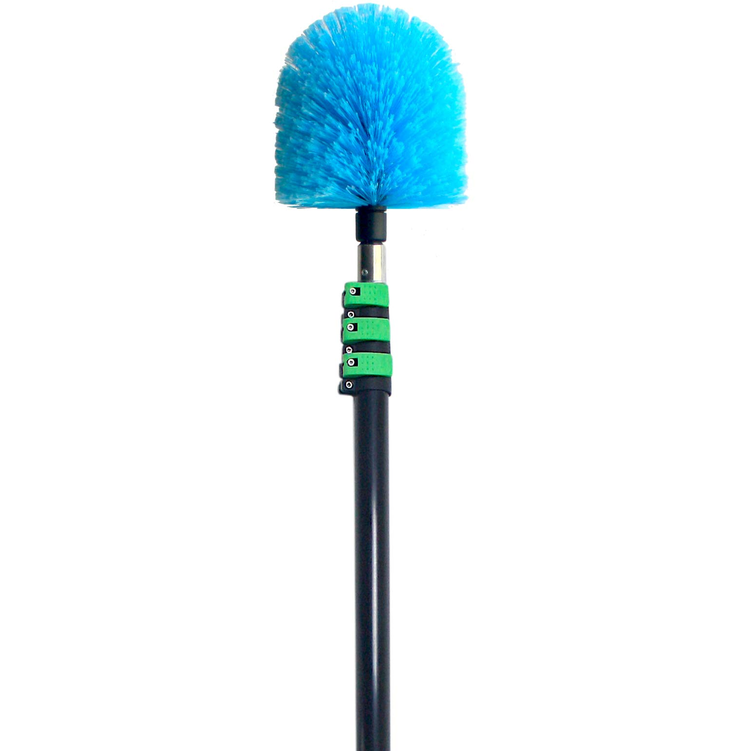 EVERSPROUT 7-to-25 Foot Cobweb Duster and Extension-Pole Combo (30 Ft. Reach, Soft Bristles) | Hand Packaged | Heavy-Duty, 4-Stage Aluminum Pole | Indoor & Outdoor Use Brush Attachment