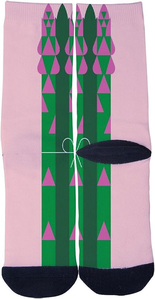 Vegetable Poster Asparagus Socks AlyGoo 3D Print Funny Custom Crew Casual Socks