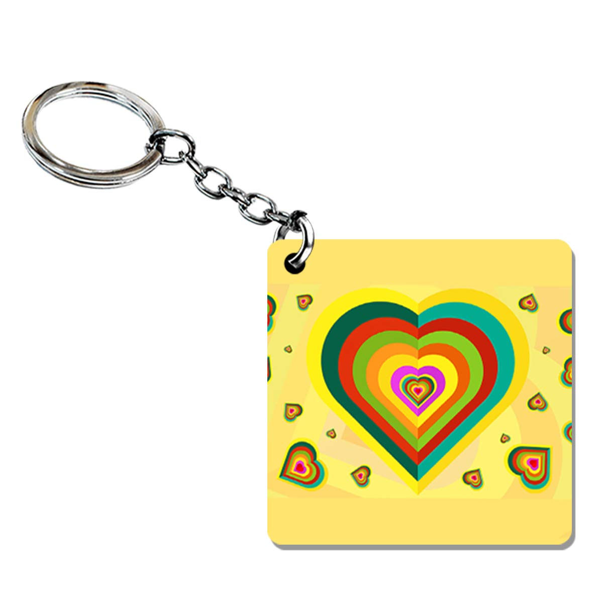 Indocult Colorful Hearts Keychain For Lovers Valentine S
