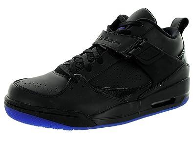Jordan Nike Men's Flight 45 Prem Black/Dark Concord Basketball Shoe 9.5 Men  US