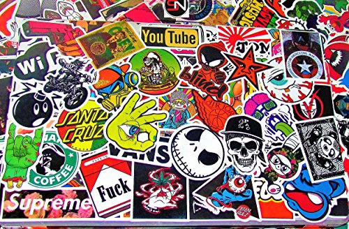 Assorted Skateboard Sticker Pack 10 pack + 5 SWH Stickers Free!