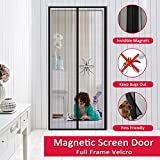 Easylife Magnetic Screen Door – Hands Free Full Frame Velcro Mesh Curtain, Bugs Mosquitoes Out Fresh Air In, Easily Install and Fits Door Size up to 34-82 Max