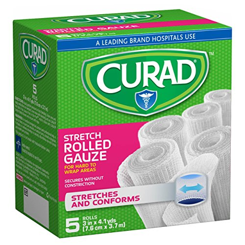Curad Rolled Gauze, 3 Inch x 4.1 Yards, 5 Count (Pack of 6) by Curad
