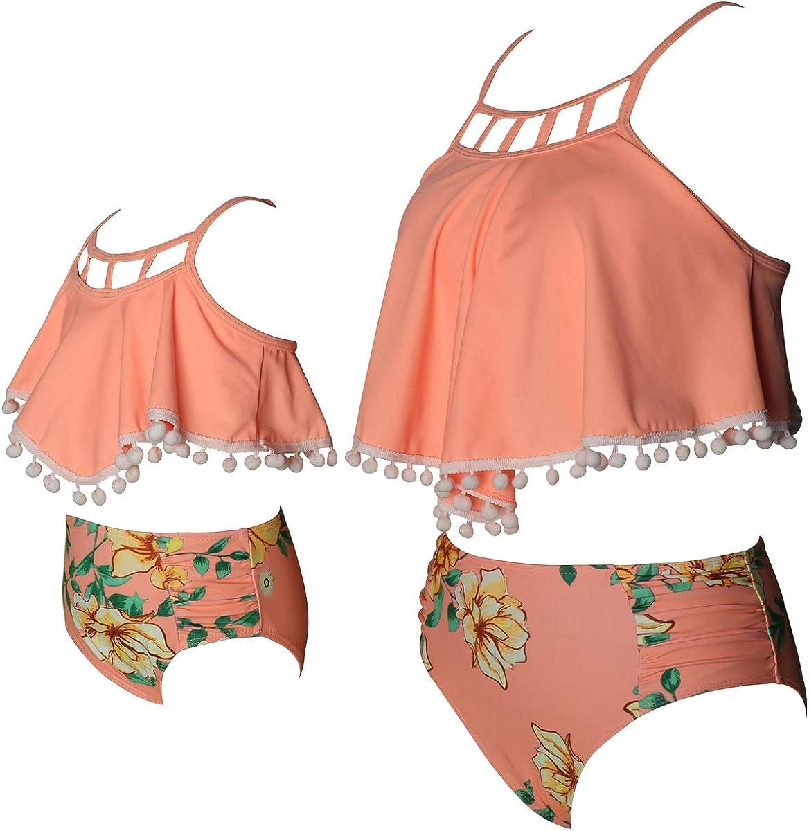 Toddler Kids Baby Girls Bikini Swimsuit Set Family Matching Mother Girl Swimwear