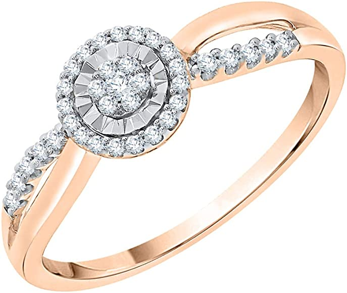 Diamond Wedding Band in 10K White Gold G-H,I2-I3 1//6 cttw, Size-6